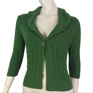 LOFT Collared Cardigan Sweater Soft Button M